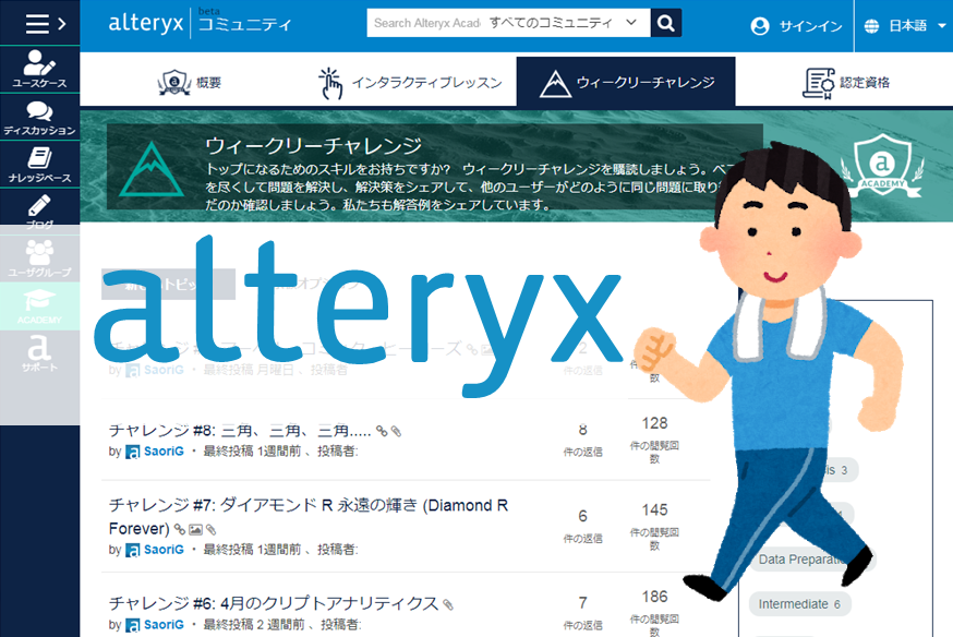 Alteryxの学習に非常に効果的なWeekly Challengeをご紹介します